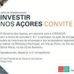 Acção de Sensibilização Investir nos Açores